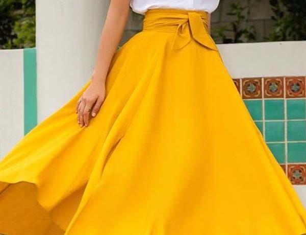 fashion-suknja-žuta-boja-modnialmanah-style-stil
